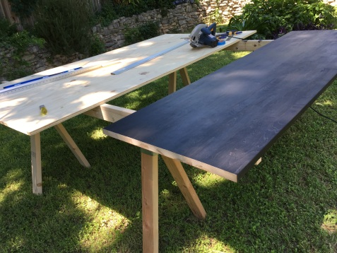 Cutting the slabs for install