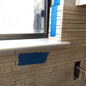 Stone tile outside corner