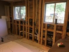 Moving plumbing, adding framing!