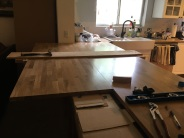 Joining counter slabs
