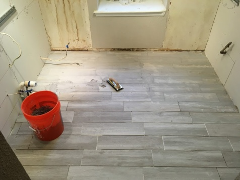 A finished flat plank tile install!