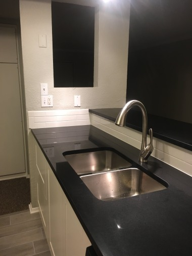 Undermount stainless -- easy cleaning!